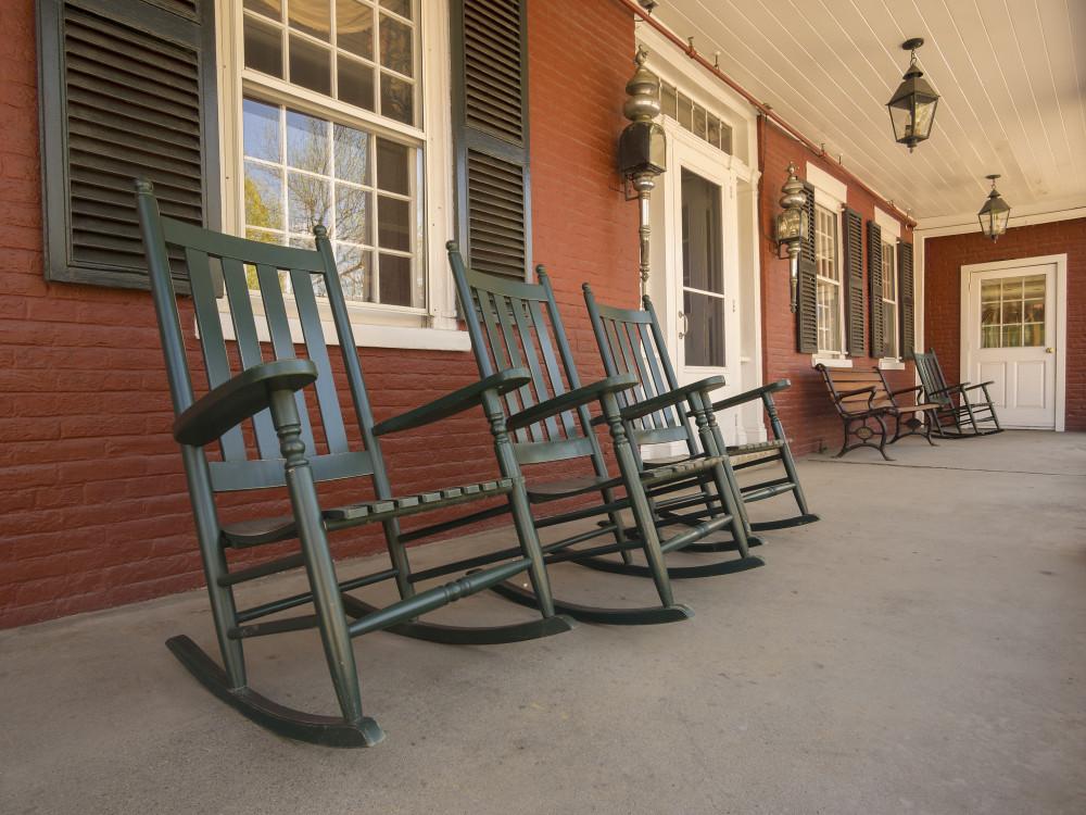 new england home porch